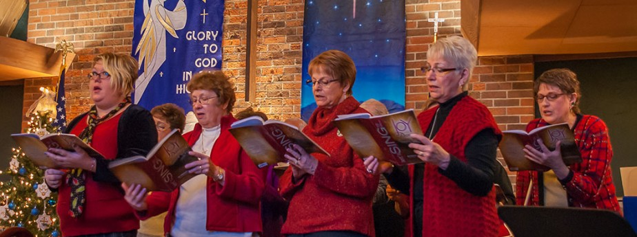 Choir Sings at Christmas